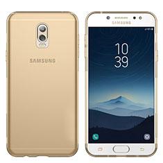 Silikon Schutzhülle Ultra Dünn Tasche Durchsichtig Transparent T03 für Samsung Galaxy J7 Plus Gold