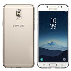 Silikon Schutzhülle Ultra Dünn Tasche Durchsichtig Transparent T03 für Samsung Galaxy J7 Plus Klar