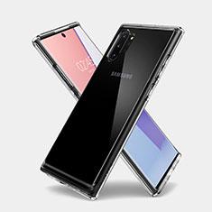 Silikon Schutzhülle Ultra Dünn Tasche Durchsichtig Transparent T03 für Samsung Galaxy Note 10 Plus Klar