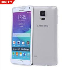 Silikon Schutzhülle Ultra Dünn Tasche Durchsichtig Transparent T03 für Samsung Galaxy Note 4 Duos N9100 Dual SIM Klar