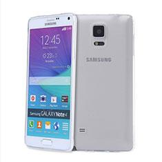 Silikon Schutzhülle Ultra Dünn Tasche Durchsichtig Transparent T03 für Samsung Galaxy Note 4 SM-N910F Klar