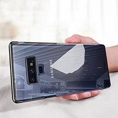 Silikon Schutzhülle Ultra Dünn Tasche Durchsichtig Transparent T03 für Samsung Galaxy Note 9 Schwarz