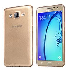 Silikon Schutzhülle Ultra Dünn Tasche Durchsichtig Transparent T03 für Samsung Galaxy On5 Pro Gold