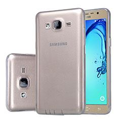 Silikon Schutzhülle Ultra Dünn Tasche Durchsichtig Transparent T03 für Samsung Galaxy On5 Pro Grau