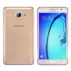 Silikon Schutzhülle Ultra Dünn Tasche Durchsichtig Transparent T03 für Samsung Galaxy On7 G600FY Gold