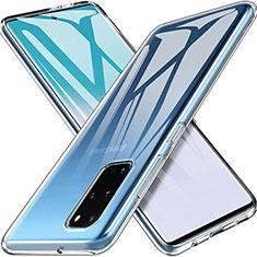 Silikon Schutzhülle Ultra Dünn Tasche Durchsichtig Transparent T03 für Samsung Galaxy S20 Plus 5G Klar