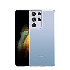 Silikon Schutzhülle Ultra Dünn Tasche Durchsichtig Transparent T03 für Samsung Galaxy S21 Ultra 5G Klar