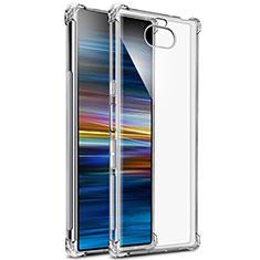 Silikon Schutzhülle Ultra Dünn Tasche Durchsichtig Transparent T03 für Sony Xperia 10 Klar