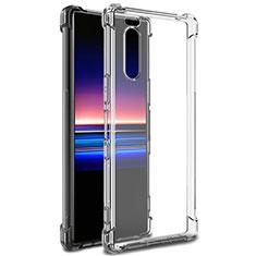 Silikon Schutzhülle Ultra Dünn Tasche Durchsichtig Transparent T03 für Sony Xperia 5 Klar
