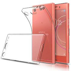 Silikon Schutzhülle Ultra Dünn Tasche Durchsichtig Transparent T03 für Sony Xperia XZ1 Compact Klar