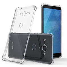 Silikon Schutzhülle Ultra Dünn Tasche Durchsichtig Transparent T03 für Sony Xperia XZ2 Compact Klar