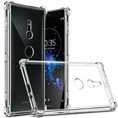 Silikon Schutzhülle Ultra Dünn Tasche Durchsichtig Transparent T03 für Sony Xperia XZ2 Klar