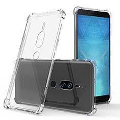 Silikon Schutzhülle Ultra Dünn Tasche Durchsichtig Transparent T03 für Sony Xperia XZ2 Premium Klar