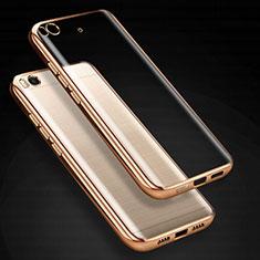 Silikon Schutzhülle Ultra Dünn Tasche Durchsichtig Transparent T03 für Xiaomi Mi 5S Gold
