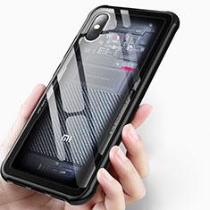 Silikon Schutzhülle Ultra Dünn Tasche Durchsichtig Transparent T03 für Xiaomi Mi 8 Explorer Schwarz