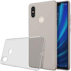 Silikon Schutzhülle Ultra Dünn Tasche Durchsichtig Transparent T03 für Xiaomi Mi 8 SE Grau