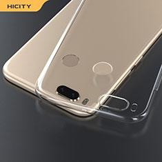 Silikon Schutzhülle Ultra Dünn Tasche Durchsichtig Transparent T03 für Xiaomi Mi A1 Klar