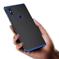 Silikon Schutzhülle Ultra Dünn Tasche Durchsichtig Transparent T03 für Xiaomi Mi Mix 2S Blau