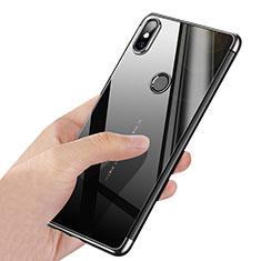 Silikon Schutzhülle Ultra Dünn Tasche Durchsichtig Transparent T03 für Xiaomi Mi Mix 2S Silber