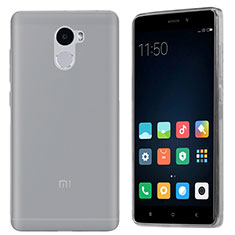 Silikon Schutzhülle Ultra Dünn Tasche Durchsichtig Transparent T03 für Xiaomi Redmi 4 Standard Edition Grau