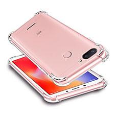 Silikon Schutzhülle Ultra Dünn Tasche Durchsichtig Transparent T03 für Xiaomi Redmi 6 Klar