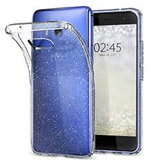 Silikon Schutzhülle Ultra Dünn Tasche Durchsichtig Transparent T04 für HTC U11 Klar