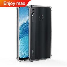 Silikon Schutzhülle Ultra Dünn Tasche Durchsichtig Transparent T04 für Huawei Enjoy Max Klar