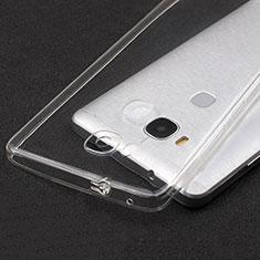 Silikon Schutzhülle Ultra Dünn Tasche Durchsichtig Transparent T04 für Huawei Honor 5X Klar