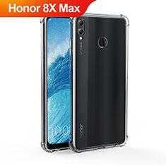 Silikon Schutzhülle Ultra Dünn Tasche Durchsichtig Transparent T04 für Huawei Honor 8X Max Klar