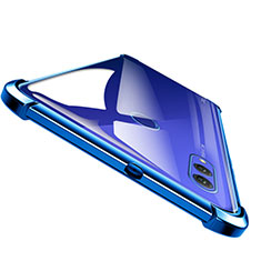 Silikon Schutzhülle Ultra Dünn Tasche Durchsichtig Transparent T04 für Huawei Honor Note 10 Blau