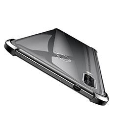 Silikon Schutzhülle Ultra Dünn Tasche Durchsichtig Transparent T04 für Huawei Honor Note 10 Schwarz