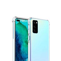 Silikon Schutzhülle Ultra Dünn Tasche Durchsichtig Transparent T04 für Huawei Honor View 30 5G Klar
