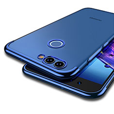 Silikon Schutzhülle Ultra Dünn Tasche Durchsichtig Transparent T04 für Huawei Nova 2 Blau