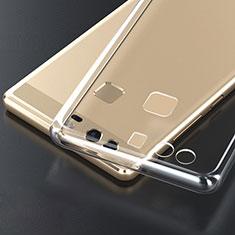 Silikon Schutzhülle Ultra Dünn Tasche Durchsichtig Transparent T04 für Huawei P9 Plus Klar