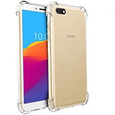 Silikon Schutzhülle Ultra Dünn Tasche Durchsichtig Transparent T04 für Huawei Y5 Prime (2018) Klar