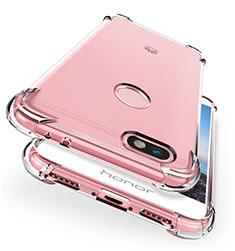 Silikon Schutzhülle Ultra Dünn Tasche Durchsichtig Transparent T04 für Huawei Y6 Pro (2017) Klar