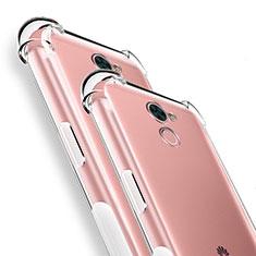 Silikon Schutzhülle Ultra Dünn Tasche Durchsichtig Transparent T04 für Huawei Y7 Prime Klar
