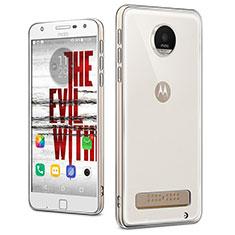 Silikon Schutzhülle Ultra Dünn Tasche Durchsichtig Transparent T04 für Motorola Moto Z Play Klar