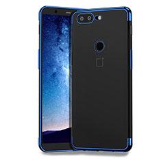 Silikon Schutzhülle Ultra Dünn Tasche Durchsichtig Transparent T04 für OnePlus 5T A5010 Blau