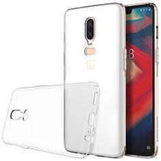 Silikon Schutzhülle Ultra Dünn Tasche Durchsichtig Transparent T04 für OnePlus 6 Klar