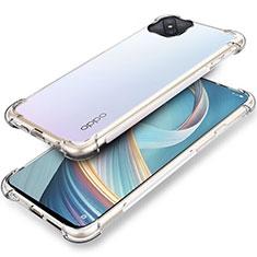 Silikon Schutzhülle Ultra Dünn Tasche Durchsichtig Transparent T04 für Oppo A92s 5G Klar