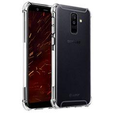 Silikon Schutzhülle Ultra Dünn Tasche Durchsichtig Transparent T04 für Samsung Galaxy A6 Plus (2018) Klar