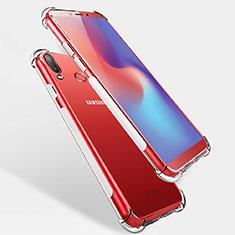 Silikon Schutzhülle Ultra Dünn Tasche Durchsichtig Transparent T04 für Samsung Galaxy A6s Klar