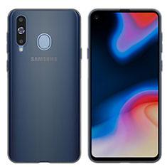Silikon Schutzhülle Ultra Dünn Tasche Durchsichtig Transparent T04 für Samsung Galaxy A8s SM-G8870 Grau