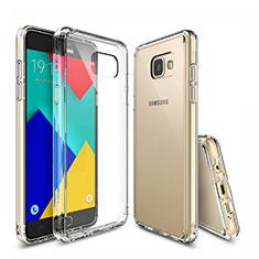 Silikon Schutzhülle Ultra Dünn Tasche Durchsichtig Transparent T04 für Samsung Galaxy A9 Pro (2016) SM-A9100 Klar