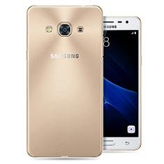 Silikon Schutzhülle Ultra Dünn Tasche Durchsichtig Transparent T04 für Samsung Galaxy J3 Pro (2016) J3110 Klar