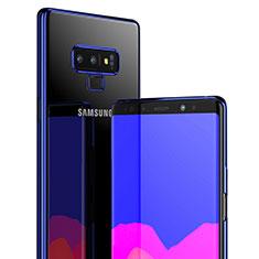 Silikon Schutzhülle Ultra Dünn Tasche Durchsichtig Transparent T04 für Samsung Galaxy Note 9 Blau