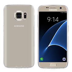 Silikon Schutzhülle Ultra Dünn Tasche Durchsichtig Transparent T04 für Samsung Galaxy S7 G930F G930FD Klar