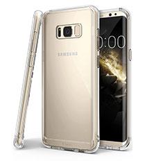 Silikon Schutzhülle Ultra Dünn Tasche Durchsichtig Transparent T04 für Samsung Galaxy S8 Plus Klar