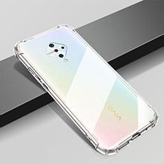 Silikon Schutzhülle Ultra Dünn Tasche Durchsichtig Transparent T04 für Vivo X50 Lite Klar